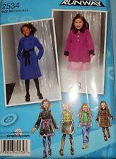 2534 Simplicity Girl's Winter Coat Jacket Vest Single Double Size 7 8 10 12 14