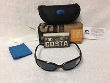 NEW Costa Del Mar Brine Polarized Sunglasses Tortoise Gray 580P BR 10 OGP 580