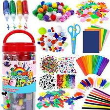 Kids Arts and Crafts Supplies - Creative Colourful Craft Art Supply Kit Fun