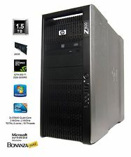 HP Z800 Workstation DUAL Xeon E5640 2.66GHz QUAD 24GB 1.5TB GTX650TI