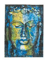 Peinture Da Budda Artista Noto Nepal Artigianale Capolavoro Unica 7661