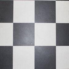 VINYL TILES - ALMOST PURE BLACK & WHITE CHECK COLOUR SAVE 60 ON RETAIL