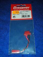 GRAUPNER 3069.1 KABEL cable MOTOR accu MG6 BEC adaptor LEAD de moteur BATTERY