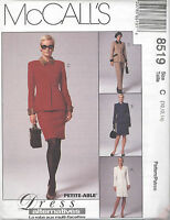 McCall's 8519 Misses' Lined Jacket, Lined Dress, Pants and Skirt  Sewing Pattern