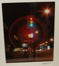 LINDSEY JESCH STOP LIGHT COLOR HAND SIGNED PHOTOGRAPH