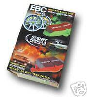 FORD FOCUS ST170 FRONT & REAR EBC GREENSTUFF BRAKE PADS
