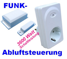 Funk Abluftsteuerung Dunstabzugshaube 3600 Watt mit LICHT AN - Option
