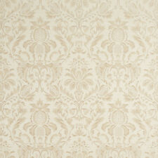 F555 Ivory Floral Pineapple Damask Upholstery Drapery Grade Fabric By The Yard