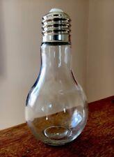 Large Decorative light bulb ornament glass jar. Quirky Novelty Screw Top Storage