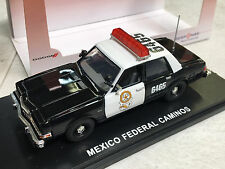 First Response 1/43 Mexico Federal Caminos Dodge Diplomat Police Car