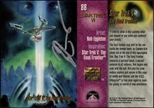 1993 Bob Eggleton SIGNED Star Trek VI Master Series Art Card USS Enterprise