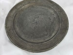 Antique 1790s English Pewter Charger by Townsend & Compton
