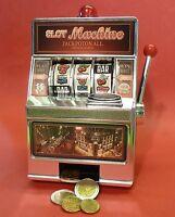SLOTMACHINE Geld-Spielautomat Einarmiger Bandit Spardose Sparschwein     69-1228