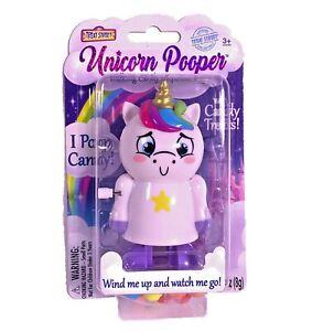 New Unicorn Pooper Walking Candy Dispenser Treat Street Wind Up Toy Gag Gift