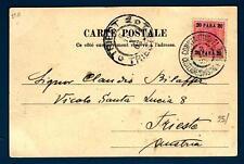 AUSTRIA - AUSTRIA - 1903 - CARTOLINA - Da COSTANTINOPOLI a Trieste - 20 para