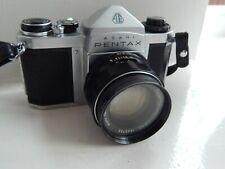 Asahi Pentax SV SLR Camera & Super Takumar Lens with Case