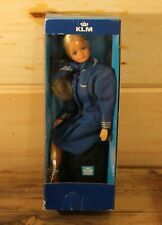 KLM Stewardess Barbie Sized Doll In Blue Outfit In Original Box Edor Benelux