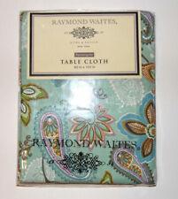 """Raymond Waites New York Table Cloth 60x84"""" Rectangle Tablecloth Blue NEW"""