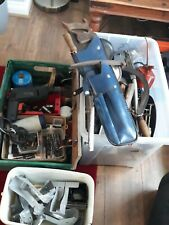 More details for large bundle of garage workshop tools clearance vintage axe  saw working drill