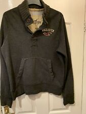 Hollister Sweatshirt Size XL Good Condition Grey Genuine Button Neck