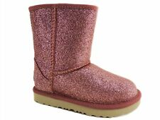 UGG Toddler Classic Short II Boots Glitter Pink Size 9 M