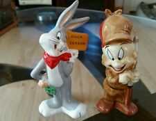 LOONEY TUNES BUGS BUNNY AND ELMER FUDD SALT AND PEPPER SHAKER