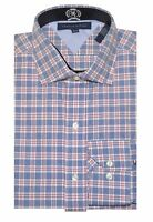 Tommy Hilfiger Men Special Edition Plaid Dress Shirt (17(32-33), Blue/red/white)
