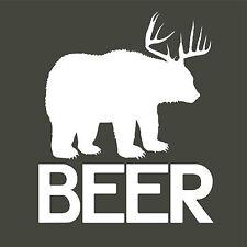 Bear with Antler's (Beer) Vinyl Decal Sticker Car Truck Window