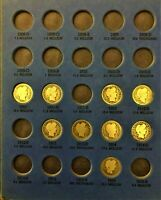 COINS FROM PAGE 3 OF 1892-1916 BARBER DIME FOLDER. THIS LOT HAS KEY DATE 1913-S