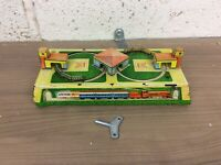 Vintage Tinplate Clockwork Figure Of Eight Train Toy. Working With Key