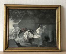 BILDERRAHMEN ANTIK GRAFIK DRUCK HOLZ STUCK GOLD BIEDERMEIER JUGENDSTIL UM 1900