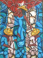 Carlos Eric Untitled Acrylic on Canvas 40X30 Original Painting Cuban Art 2003