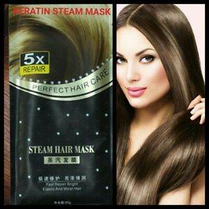 Heated Steam Hair Treatment Mask With Keratin Protein Repair Damaged Split Ends