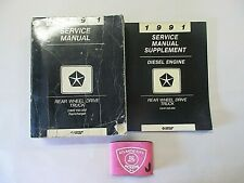 1991 Dodge Truck D&W 150-350 Ramcharger Service Shop Manual & Diesel Supplement