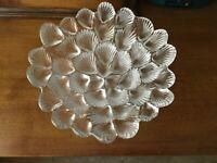 "Royal Copenhagen Musling 9"" Crystal Glass Shell Bowl Seashell Candy Dish Lutken"