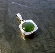 Silberanhänger Nephrit Theodor Klotz 925er Sterling Silber Anhänger TeKa 1,9 cm