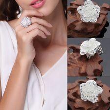 925 Silber Ring Silberblute  rhodiniert Silberring Silberschmuck Sterlingsilber