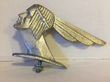 Cast Pewter Indian Head Bicycle, Motorcycle ,Fender Ornament