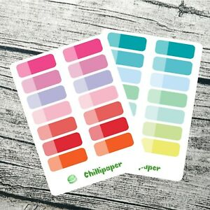 Full width 1.5 inch, Date covers, Shade planner Stickers, Erin Condren