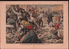 King Victor Emmanuel III of Italy Earthquake Village Calabria 1905 ILLUSTRATION