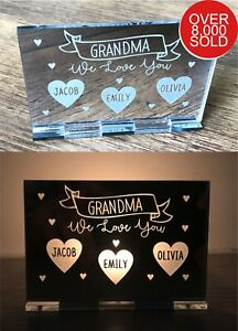 Personalised Mothers Day Gifts For Nanny Mum Mummy Nana Gran Candle Holder Gift