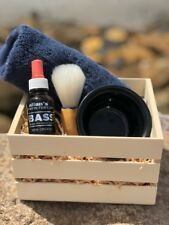 Allan's 100% Organic Beard & Shave Serum with Lather Brush, Bowl & Face Washer