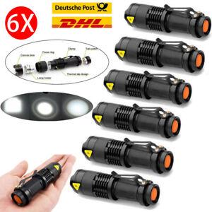 6Stk 8000LM LED USB Wasserdicht Taschenlampe Original Taktisch Fackel Zoom Fokus