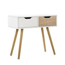 [en.casa]® Console Sideboard Cupboard Dresser white/oak Side Table