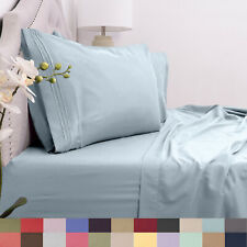 1800 Count Deep Pocket Microfiber 3 Piece Sheet Set Twin, Twin XL Asst Colors