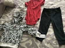 Carters Toddler Girl 3 Piece Outfit  Animal Print Size 18 Months