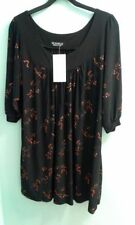 Embroidered 3/4 Sleeve Plus Size Tops & Shirts for Women