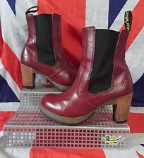 Mint*Darla*Cherry Red Oxblood Dr Doc Martens Chelsea Boot*Chunky Heel*Skingirl*4