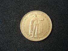 Hungary, 10 Korona, 1908, gold