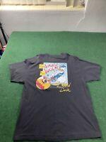 Vintage Disney Donald Duck 65th Anniversary Sailor Black Shirt Men's Sz Large